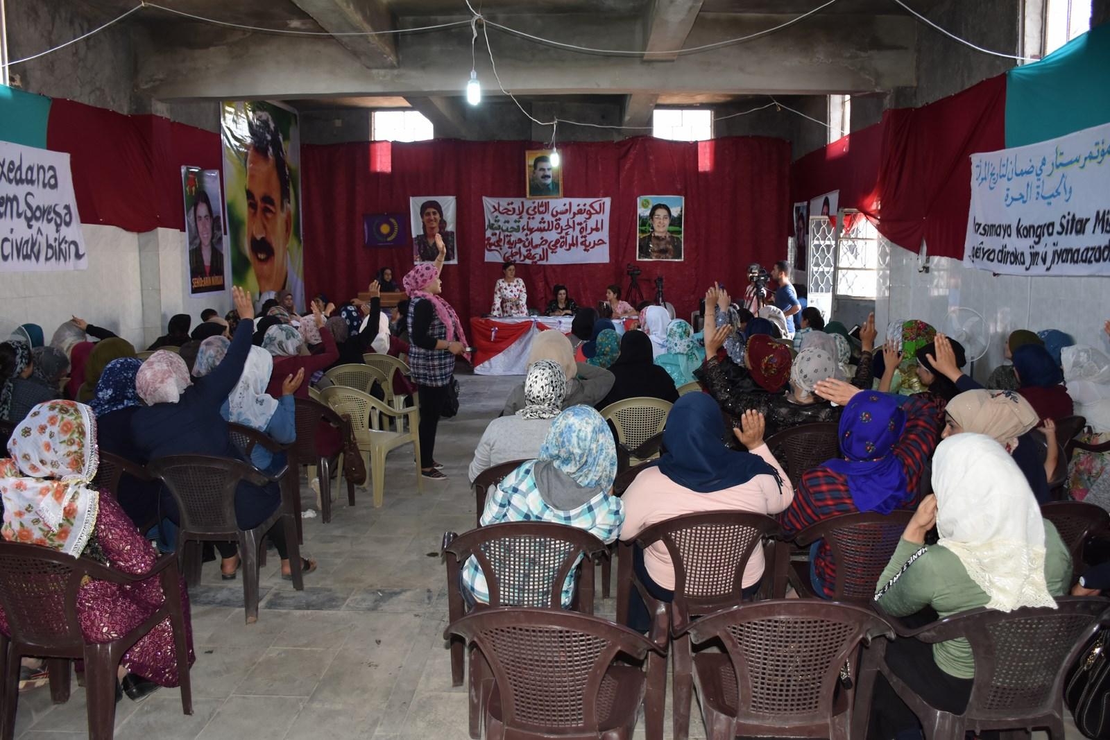 اتحاد المرأة الحرة للشهباء يختتم كونفرانسه الثاني