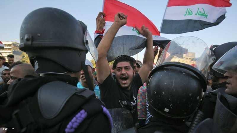 مقتل متظاهرين وإصابة 45 آخرين والتظاهرات تصل إلى العاصمة بغداد