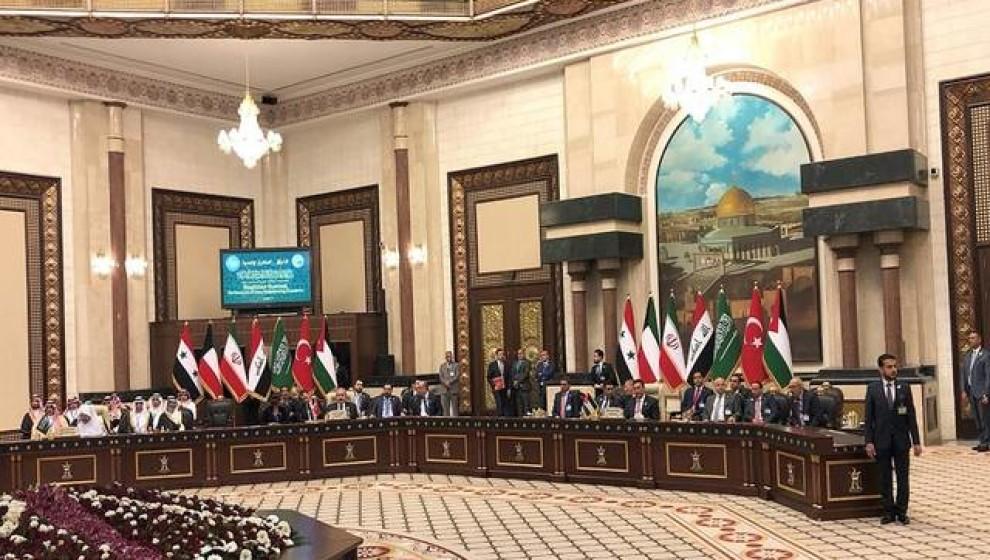 بيان مشترك لرؤساء برلمانات دول جوار العراق في ختام قمة