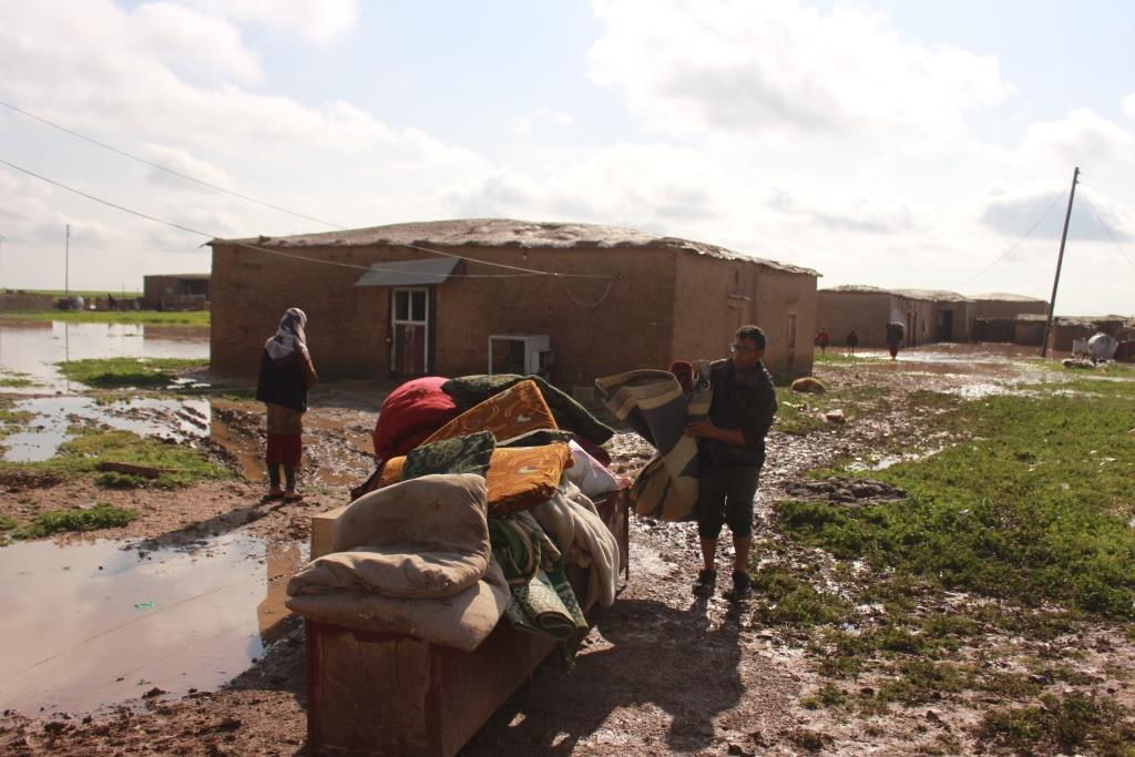 تفاصيل أضرار الفيضانات في مقاطعة قامشلو