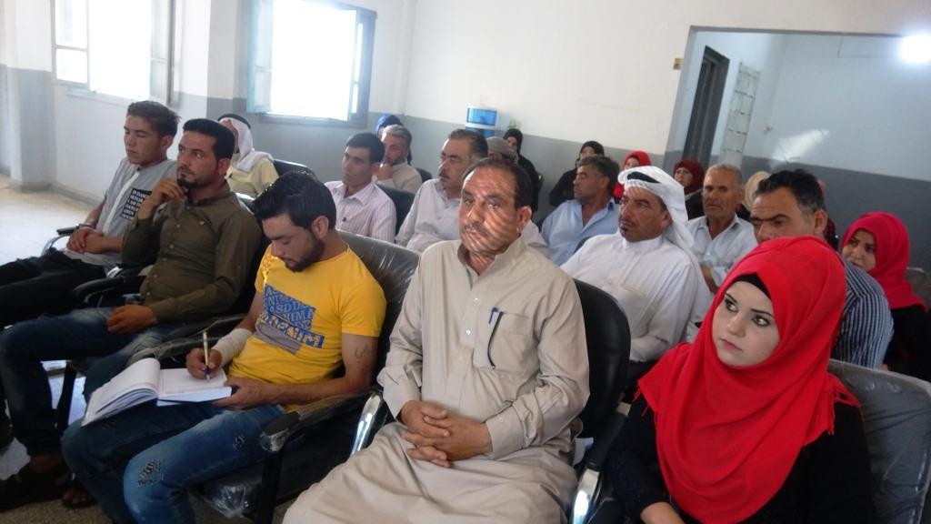 اجتماع في قرية الصعوة للتعريف بمبادئ وأهداف حزب سوريا المستقبل