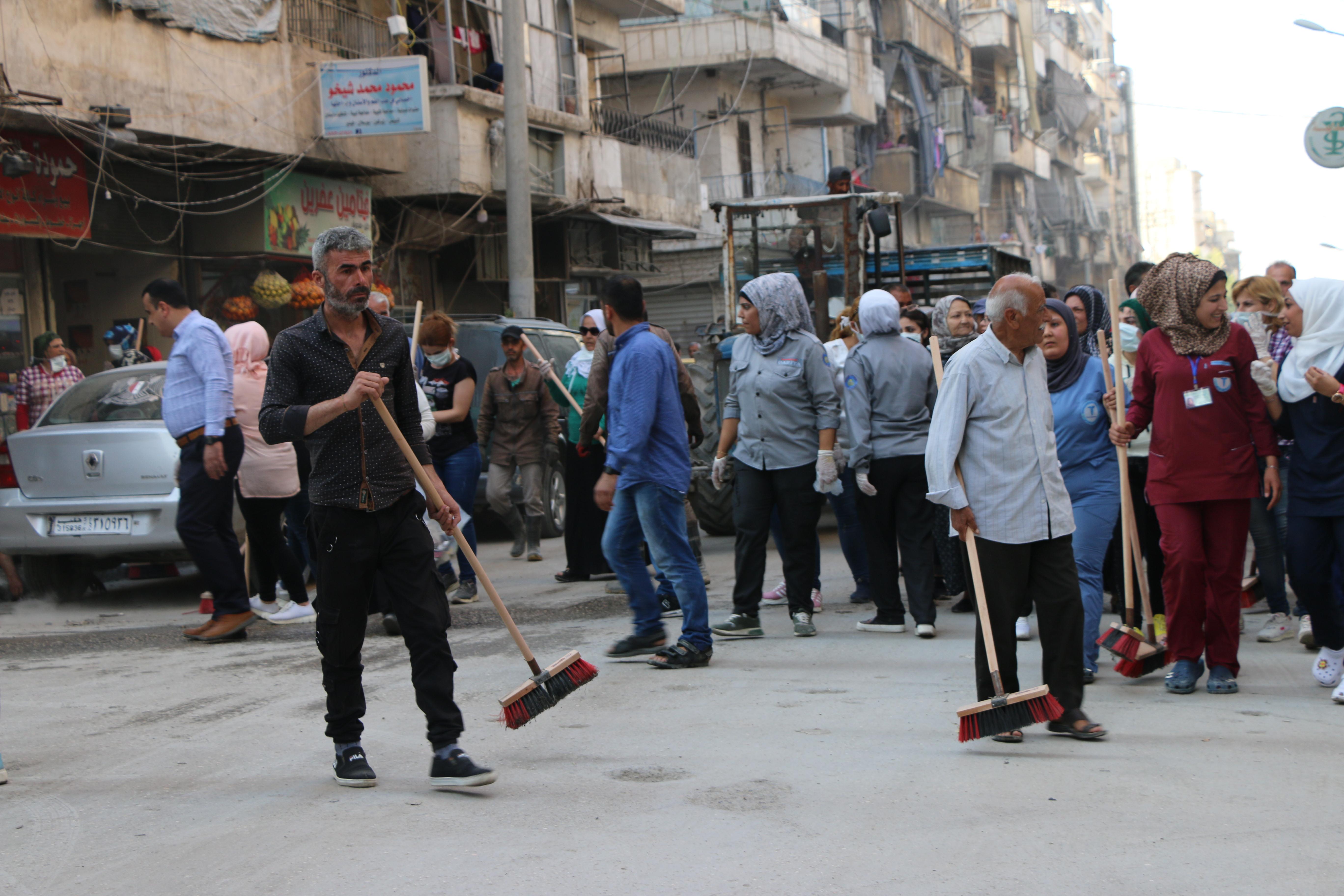 حملة نظافة موسعة في حيي الشيخ مقصود والأشرفية بحلب