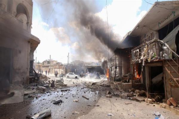 مقتل 9 أشخاص وجرح 14 آخرين في إدلب