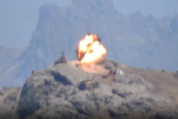 مشاهد من العمليّة التي نفذها الكريلا ضدّ جيش الاحتلال التركي في