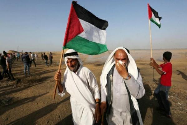 اصابة 97 فلسطينياً برصاص الجيش الإسرائيلي في غزة