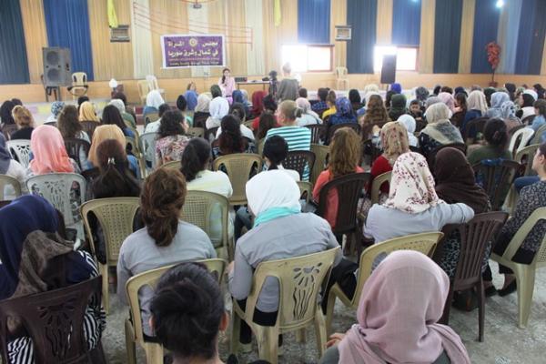 مجلس المرأة في شمال وشرق سوريا يناقش ميثاقه في تربه سبيه