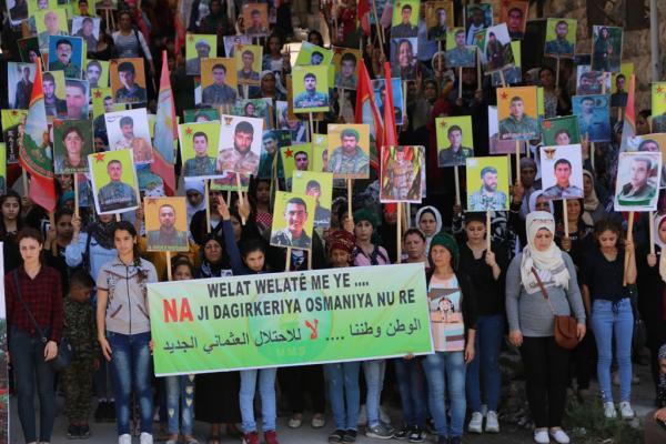 عوائل الشهداء: لا للاحتلال ليسقط الفاشي أردوغان