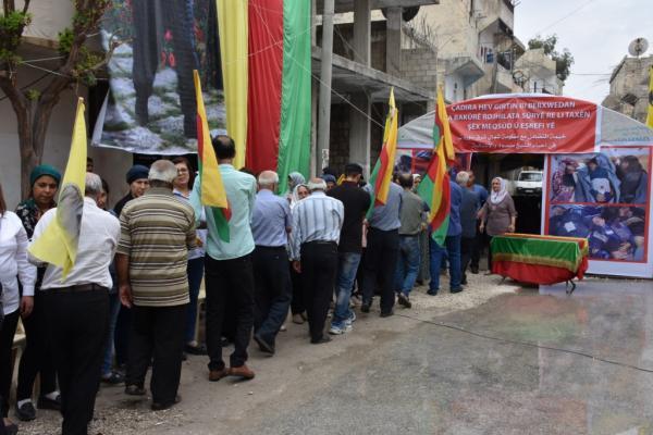 أهالي حلب يؤكدون تضامنهم مع مقاومة الكرامة لحماية الأراضي السورية