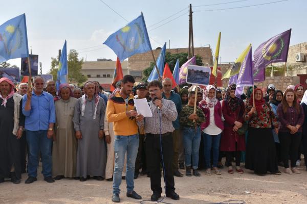 من الشهباء.. على مجتمع الدولي اتخاذ مواقف عملية تجاه هجمات التي تهدف إلى تقسيم سوريا