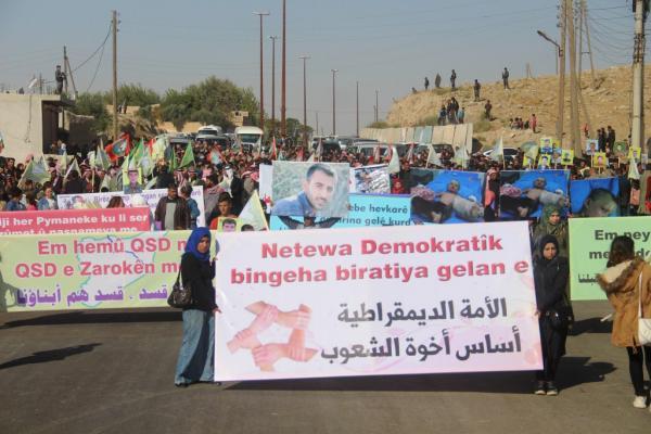 أهالي صرين: سنقف مع قسد ونحمي مدننا