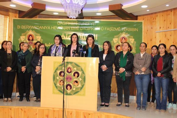 نساء شمال وشرق سوريا يدعون نساء العالم بالانتفاض ضد جرائم أردوغان