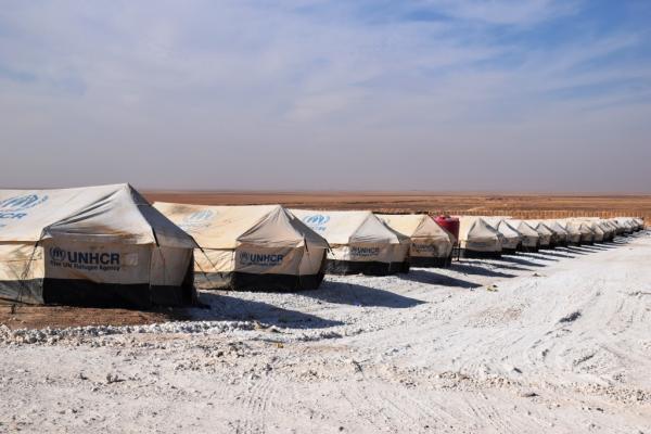 افتتاح مخيم لنازحي كري سبي في بلدة تل السمن