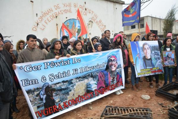 أهالي كوباني يستذكرون الشّهيدة الأمميّة ساريا أزغور