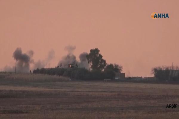 جيش الاحتلال التركي يقصف قرية هوشان غربي عين عيسى