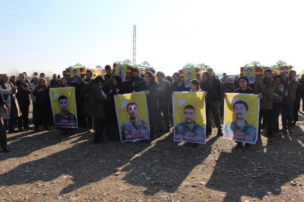 إقامة مراسم لـ4 شهداء من مقاومة الكرامة في ديرك
