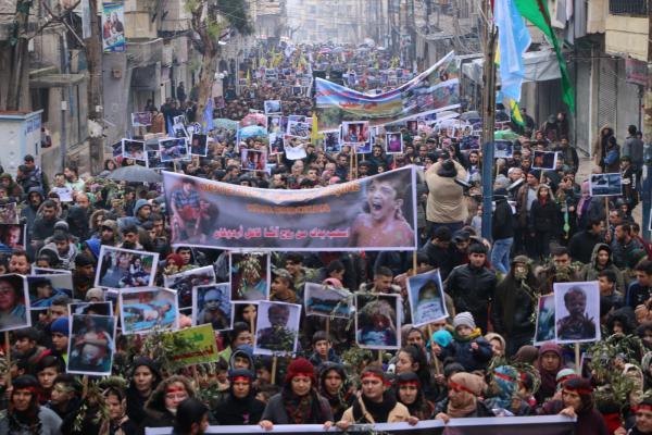 المتظاهرون في حلب: عفرين لنا وليست للاحتلال