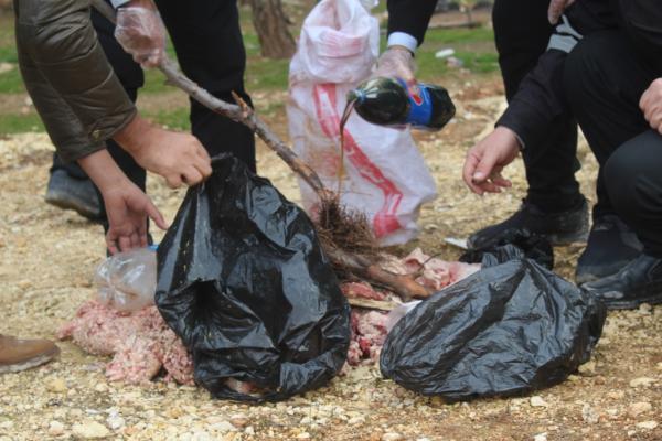 إتلاف كمية من اللحوم الفاسدة في كوباني