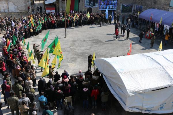 مراسم غيابية في حلب للمقاتل شورش أمانوس