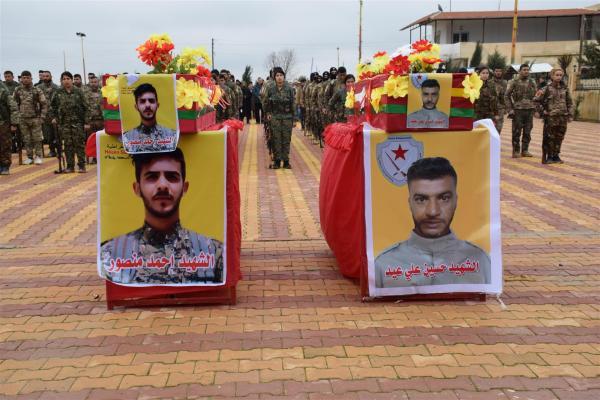 الحسكة تودّع الشهيدين حسين عيد وأحمد منصور