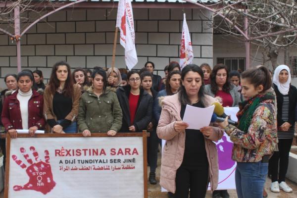 منظمة سارا تستنكر جريمة القتل بحق هدى العلي وطفلها في كوباني