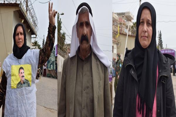 المعتصمون في قامشلو ينددون بالصمت الدولي حيال وضع أوجلان