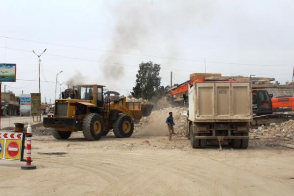 أعمال مستمرة لبلدية الشعب وشعبة التموين في الشدادي