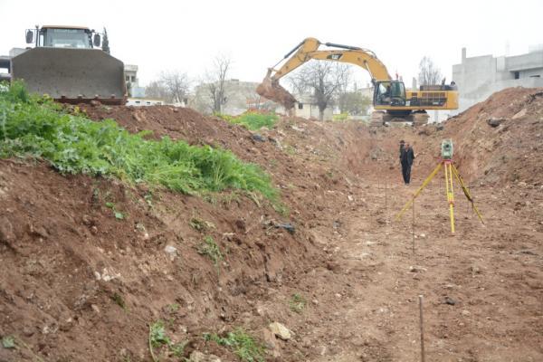 3 أشهر تفصل كوباني عن انتهاء العمل على مشروع صرف مياه السيول