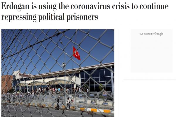 الواشنطن بوست: أردوغان يستخدم أزمة كورونا لمواصلة قمع السجناء السياسيين