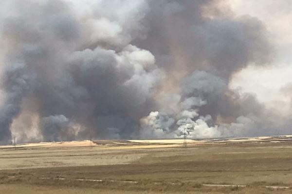 لليوم الثاني...استمرار الحرائق غرب تل تمر وتوسع رقعتها