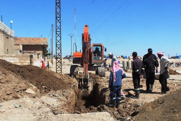 مشروع بطول 4 كم لحل مشكلة الصرف الصحي في الشدادي