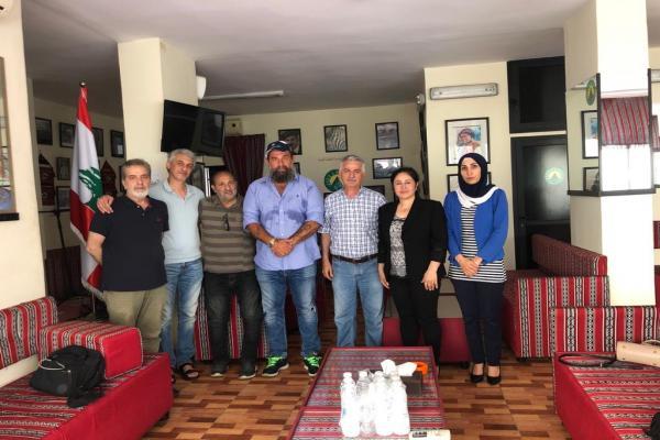 وفدٌ من رابطةِ نوروز يزورُ جمعيّة الأرز الكرديّة في لبنان