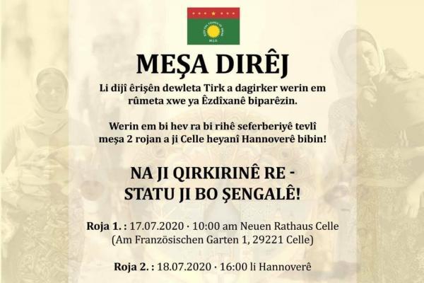 غدًا ...مسيرة ماراثونية في ألمانيا تطالب بحماية الإيزيديين والتصدي للهجمات التركية