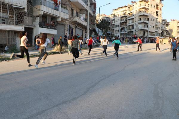 شبيبة حزب الاتّحاد الديمقراطيّ تنظّم فعاليّة رياضيّة في حلب