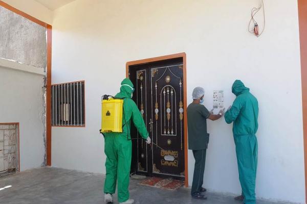 حملة متابعة ووقاية من فيروس كورونا في الريف الشرقي لدير الزور