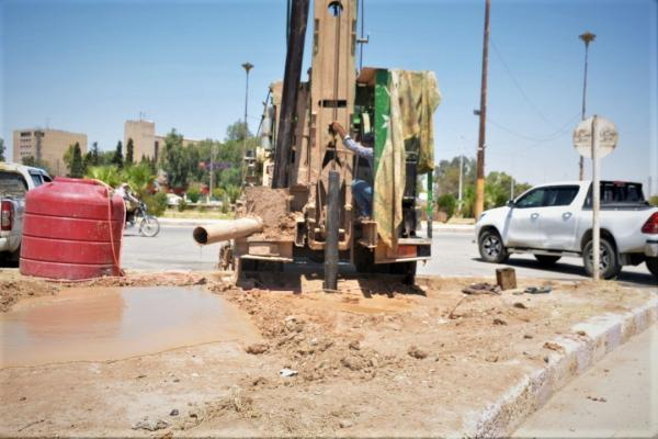 6 آبار لحماية المساحات الخضراء والأشجار وخدمة الأهالي في الحسكة