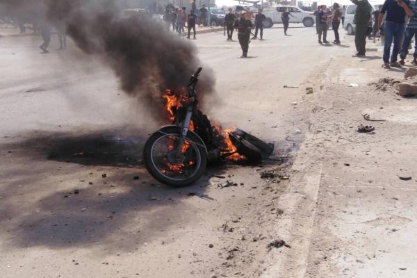 انفجار دراجة نارية في الصور بريف دير الزور