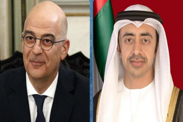 لقاء يجمع وزيري خارجية الإمارات واليونان والأخيرة تجدد دعمها لقبرص
