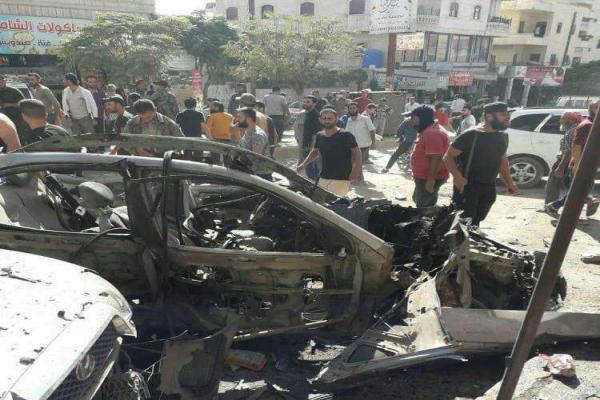 انفجار وسط مدينة عفرين المحتلة
