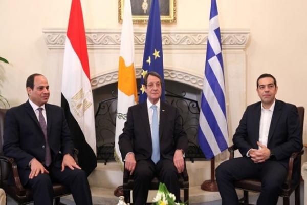 قمة مصرية ـ يونانية ـ قبرصية اليوم لمناقشة الاستفزازات التركية