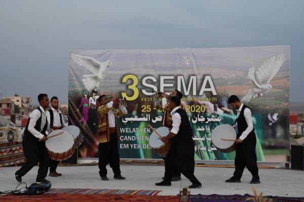 انطلاق فعاليّات مهرجان سما الثالث في إقليم عفرين
