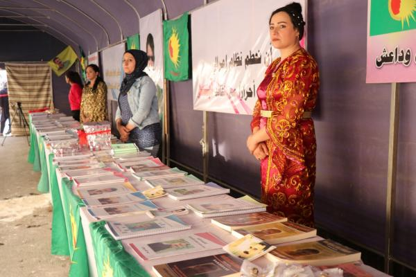 مؤتمر ستار يفتتح معرضاً لكتب القائد أوجلان في حلب