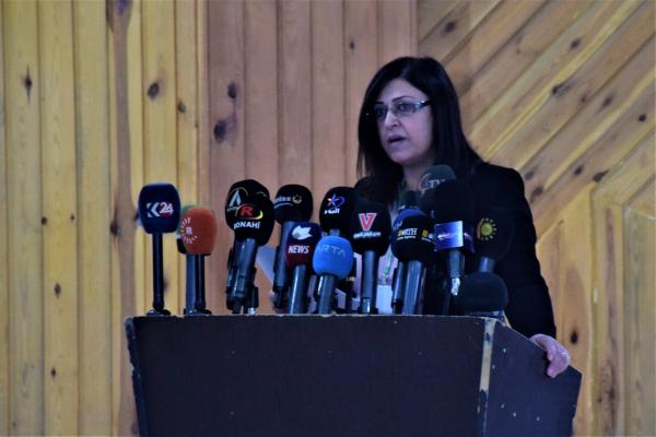 أمينة عمر: منفتحون على الحوار مع كافة الأطراف السورية لإنقاذ بلدنا