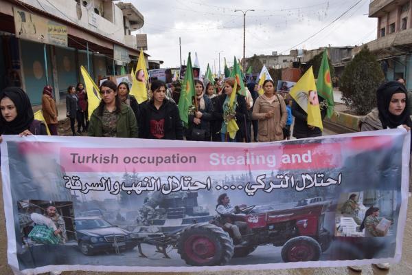 أهالي جل آغا: على المجتمع الدوليّ إنهاء الاحتلال التركيّ على الأراضيّ السّوريّة