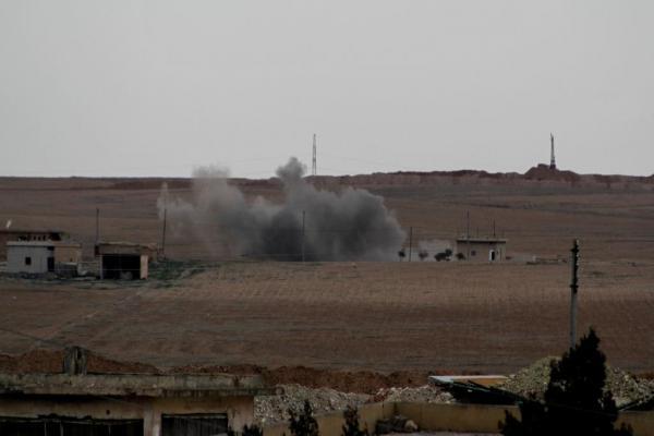بشكل ممنهج ومتعمد الاحتلال التركي يدمّر قرى عين عيسى