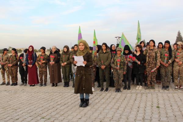 نساء منبج: الثامن من آذار يوم نضال وصمود المرأة