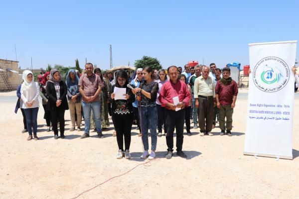 منظمة حقوق الإنسان في عفرين تدعو المجتمع الدولي إلى أداء واجبه حيال مُهجّري عفرين