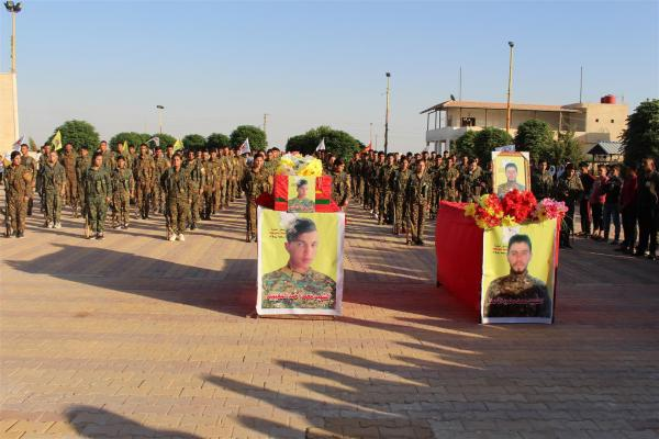 Al-Hasakah disclosed record of martyr Mohammed Mahmoud, bid farewell martyr Mohammed al-MohimidC