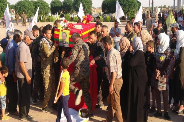 Al-Hasakah bid farewell Martyr Peleng Mazloum