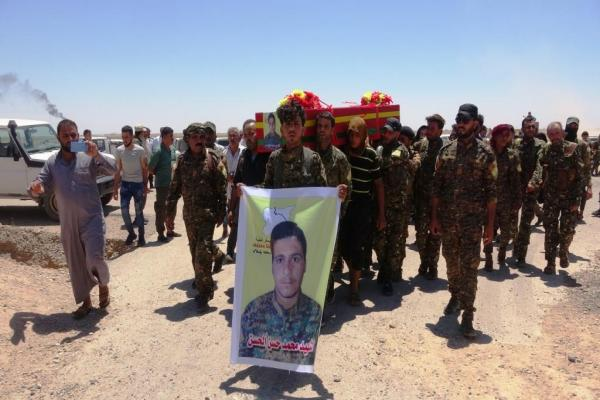 Funeral ceremony held in Deir ez-Zor, 13 martyrs' record announced