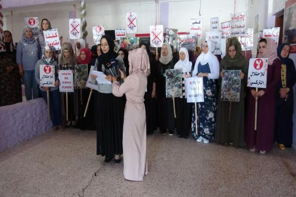 Woman in liberated areas launched campaign against Turkish occupation